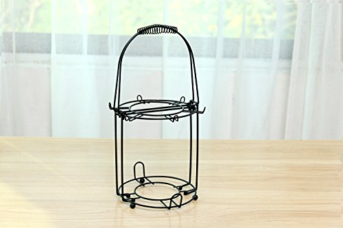 Wire Rack for Organizing 6*saucers & 6*cups & 6*spoons &1*teapot or Coffee Pot/espresso Set Rack /Tea Set Display Stand/cabinet Stacker/kitchen Handling Case (Espresso Cup Stand compare prices)