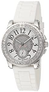 Juicy Couture Women's 1900702 Pedigree White Jelly Strap Watch