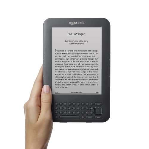 Kindle 3G, Free 3G + Wi-Fi, 3G Works Globally, Graphite, 6″ Display with New E Ink Pearl Technology