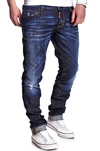 DSQUARED2 Jeans mit Kette SLIM Dunkelblau S74LA0678 [48] thumbnail