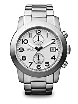 Marc by Marc Jacobs Larry Chronograph White Dial Stainless Steel Mens Watch MBM5030