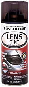 Rust-Oleum Automotive 253256 10-Ounce Lens Tint Spray, Translucent Black