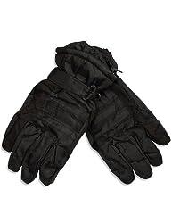 Winter Warm-Up - Mens Ski Gloves, Black 28570-X-Large