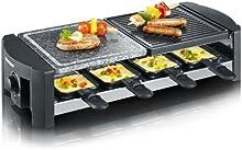 Comprar Severin 2683 - Raclette con piedra de grill natural,  1.300 W,  8 mini- sartenes antiadherentes, color piedra y negro