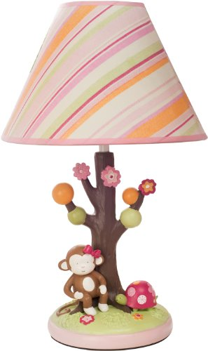 Kids Line Lamp Base And Shade, Miss Monkey (Discontinued By Manufacturer)