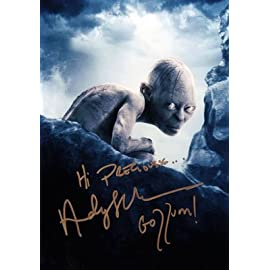 Andy Serkis Gollum Lord of the Rings Signed Autographed Reprint Photo
