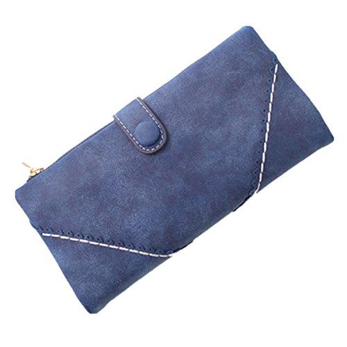 OURBAG Women Fashion Lady Leather Wallet Button