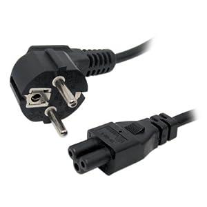 *** Cordon électrique secteur tripolaire pour PC 1.8 mètre Noir ***