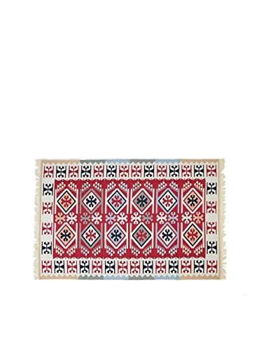 Tapis a Porter Alfombra Doubleface Sultan Rojo/Marfil/Multicolor 160 x 250 cm