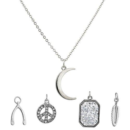 lux-accessories-crescent-moon-celestial-wishbone-luck-pave-peace-leaf-interchangable-necklace-set