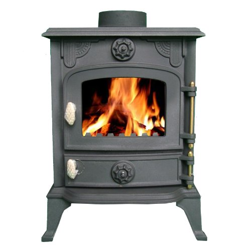FoxHunter Cast Iron Log Wood Burner Stove JA013 6KW Multifuel Fire Place