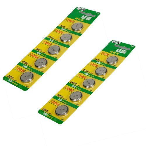 10 Pcs 3V 3 Volt Cr2032 Cr 2032 Lithium Button Coin Cell Battery For Watches And Electronics