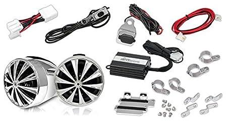 Lanzar OPTIMC91BT OptiDrive 700 W pour moto Système audio Bluetooth étanche avec haut-Parleur et amplificateur, Entrée iPod et chargeur USB