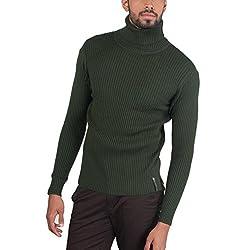 Provogue Men's Woolen Sweater (8903522446351_103592-GR-216_Large_Petrol)