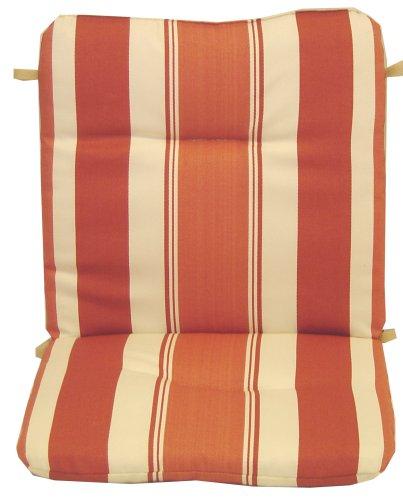 Katani Stripe Coral Spun Poly Wrought Iron Chair Cushion - Buy Katani Stripe Coral Spun Poly Wrought Iron Chair Cushion - Purchase Katani Stripe Coral Spun Poly Wrought Iron Chair Cushion (Arden, Home & Garden,Categories,Patio Lawn & Garden,Patio Furniture,Cushions Covers & Pillows,Patio Furniture Cushions)