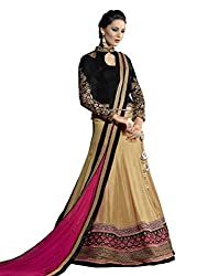 Touch Trends Golden Embroidered Lehenga Choli