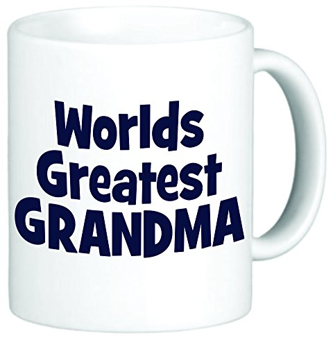 Rikki Knight Blue World'S Greatest Grandma 11 Oz Ceramic Coffee Mug Cup