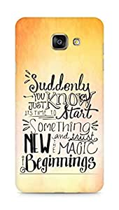 AMEZ start something new and the magic begins Back Cover For Samsung Galaxy A7 (2016 EDITION)