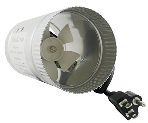 TerraBloom Inline Fan 100 CFM, 4 Inch, Duct Booster For Exhaust and Intake Ventilation (Variable Speed Fan Dial compare prices)
