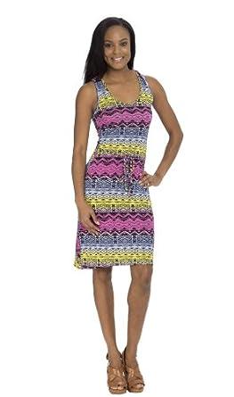 (74757R) Classic Designs Tribal Print Spun Spandex Racerback Maxi Dress (Sizes S-4X) in Peach/Lilac Size: 4X