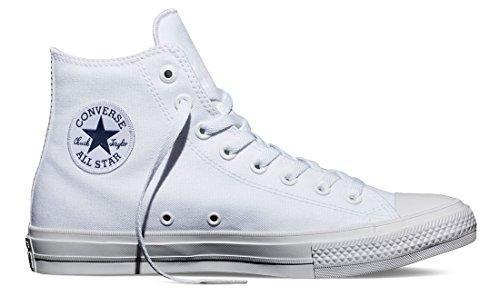 Converse Unisex Chuck Taylor All Star II Hi White/White Basketball Shoe 11 Men US