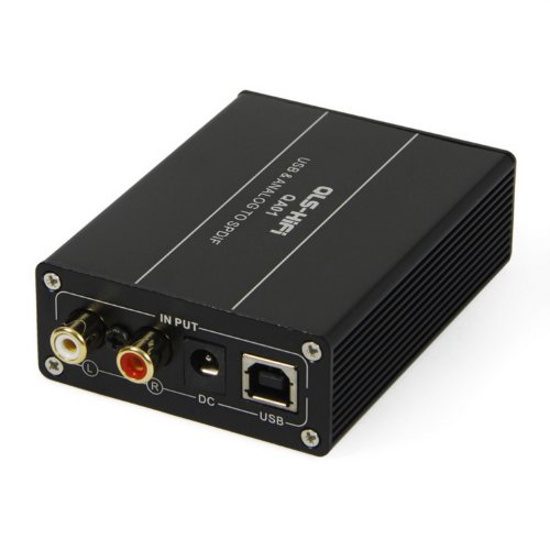 QLS-HIFI QA01 USB to SPDIF coaxial optical fiber I2S Digital Audio Sound card