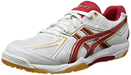 Asics Men\'s Rothe Japan Light White/ Red Synthetic Fibers Volleyball Shoes 12.5