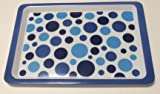 "Summer Party Polka-Dots Plastic Serving Tray (14"" x 10"")"