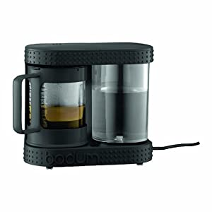 Bodum Bistro Electric French Press Coffee Maker and Tea Dripper, 4-Cup, Black