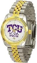 Texas Christian Horned Frogs TCU NCAA Mens Steel Executive Watch