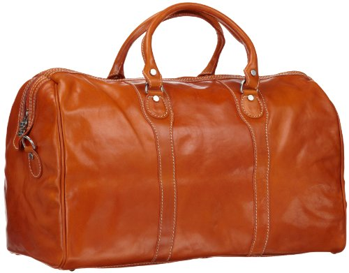 Floto Luggage Milano Duffle Bag, Orange, One Size reviews