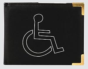 black disabled badge and timer/time/clock holder/wallet