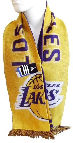NBA Men's Team Scarf - S120Z, Los Angeles Lakers, One Size , Los Angeles Lakers , Gold/Purple at Amazon.com