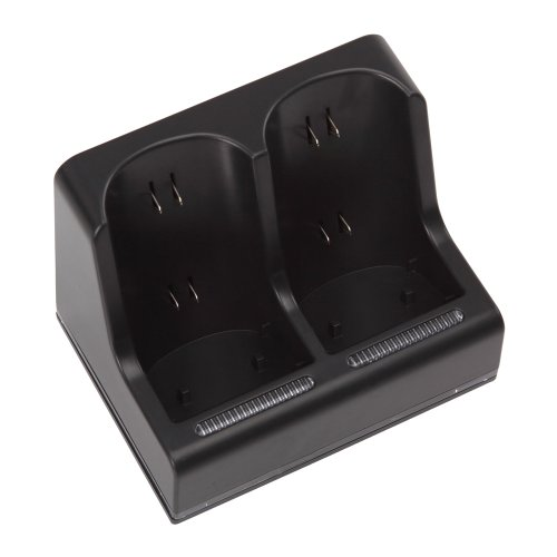 Lujex USB Dual Charging Station & 4*2800mAh Rechargeable Battery Pack for Wii Black Color