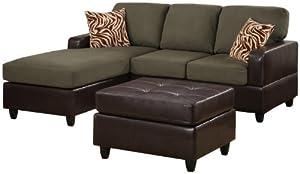 Cool 7 Bobkona Manhattan Reversible Microfiber 3 Piece Sectional Uwap Interior Chair Design Uwaporg
