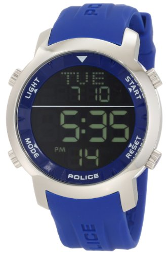 Police 12898JS-02G Mens Cyber Black Blue Watch