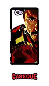 Caseque Iron Man - Tony Stark Back Shell Case Cover For Sony Xperia Z2 Compact