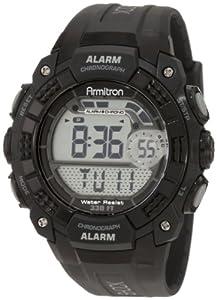 Armitron Men's 408209BLK Chronograph Black Digital Sport Watch from Armitron