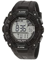 Armitron 408209BLK Chronograph Black Digital