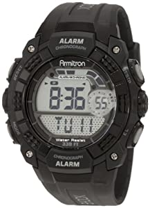 Armitron Men's 408209BLK Chronograph Black Digital Sport Watch