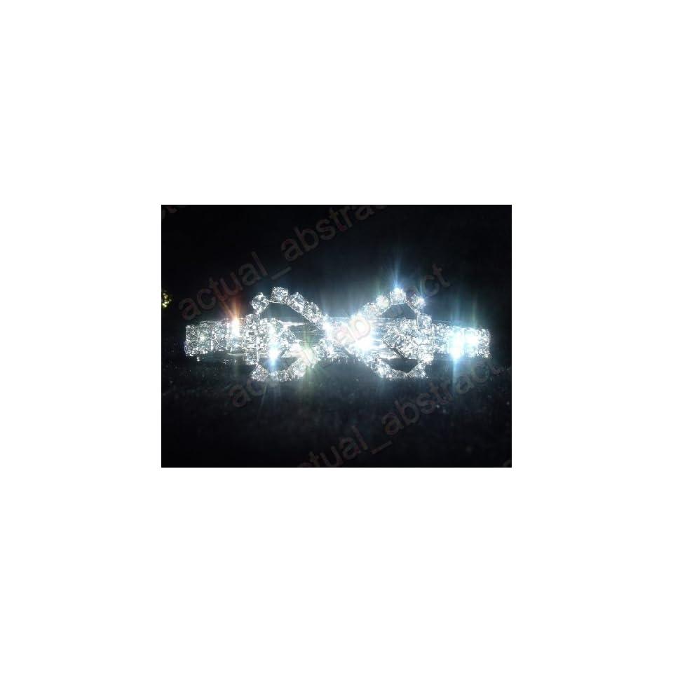 Asc3] Crystal Inner Double Heart Hair Barrette/clip
