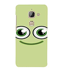 PrintVisa Cute Cartoon Smile 3D Hard Polycarbonate Designer Back Case Cover for LeEco Le Max 2