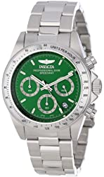Invicta Men's 14384 Speedway Chronograph Green Dial Stainless Steel Watch
