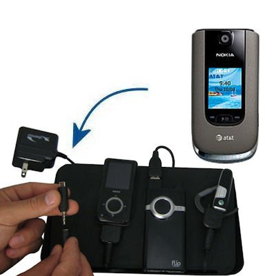 Gomadic Advanced Nokia Snapper 4-port Charging Station - Uses TipExchange Technology to charge up to four devices simultaneously