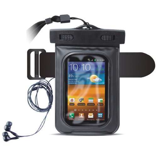 Cooskin Hot Seller Black Waterproof Case Pouch With Armband And Earphone For Apple Iphone 4, Iphone 4S,Iphone 5,Iphone5C,Iphone 5S, Ipod Touch 3, 4,Other 4 Inch Smartphones Ipx8 Certified