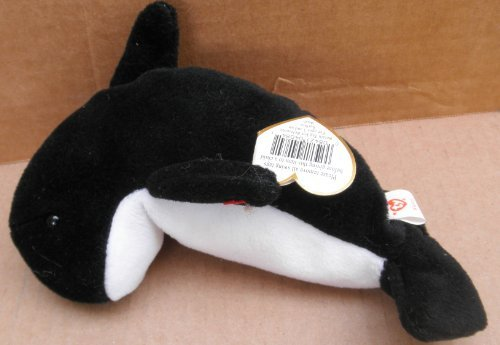 TY Beanie Babies Waves the Orca Plush Toy Stuffed Animal