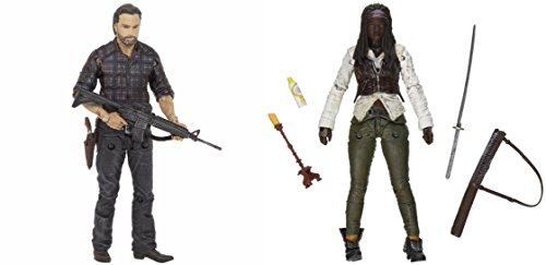 "Action Figures The Walking Dead TV Series 7.5 Rick Grimes & Michonne 5"" Hero Series Toys"