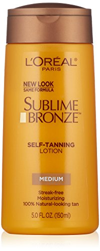 L'Oreal Paris discount duty free L'Oreal Paris Sublime Bronze Self-Tanning Lotion, Medium Natural Tan, 5.0 Ounces