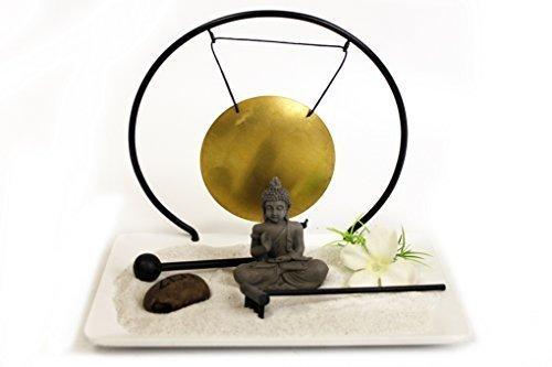 Zen-Garten-mit-Buddha-und-Gong-fr-Schreibtisch-Geschenk-fr-jeden-Anlass