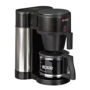 Bunn NHBX-B Contemporary 10-Cup Home Coffee Brewer, Black